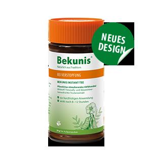 Bekunis Instant Tee Natuerliches Abfuermittel Verpackung